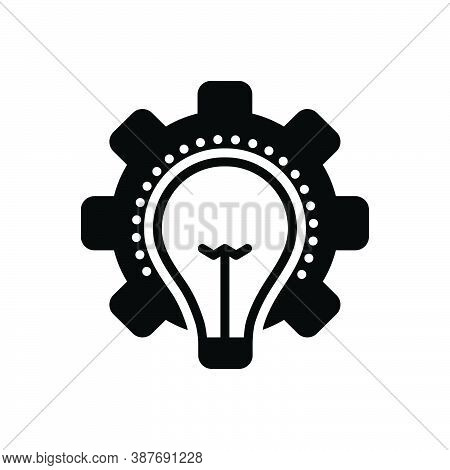Black Solid Icon For Consideration Idea Opinion Thought Thinking Deliberation Mentation