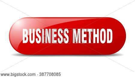 Business Method Button. Sticker. Banner. Rounded Glass Sign