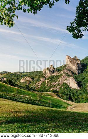 Roccamalatina Rock Formations Near Modena, Emilia Romagna, Italy.