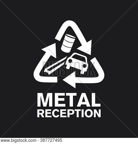 Vector Logo Reception And Utilization Scrap Metal