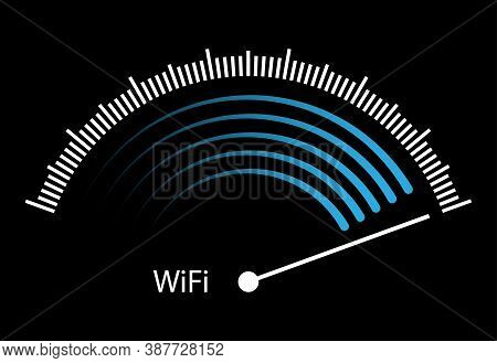 Wi-fi Signal Strength. Blank For A Logo, Brand, Or Sticker. Stock Illustration