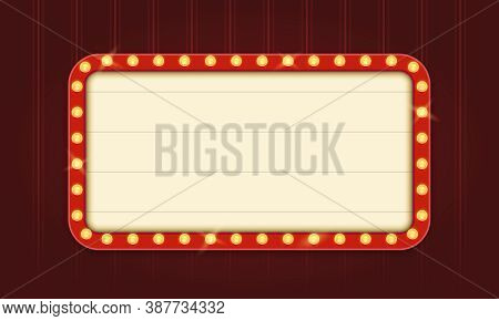 Retro Lightbox Template With Red Border And Round Corners