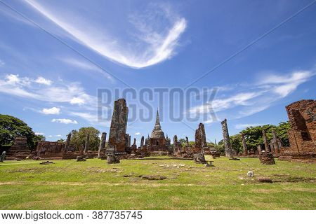 Wat Phra Sri Sanphet Is Another Beautiful Temple In Phra Nakhon Si Ayutthaya Province In Thailand.