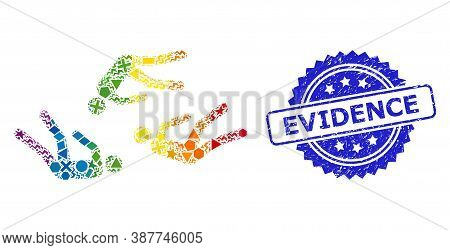 Spectrum Vibrant Vector Dead People Collage For Lgbt, And Evidence Grunge Rosette Seal Imitation. Bl