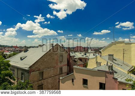 Old City Poor Street Ghetto Buildings Urban Landmark Top View Photography In Clear Weather Day Time