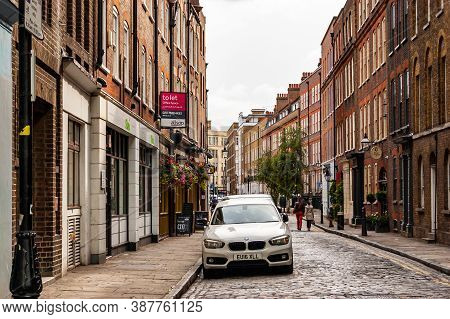 London, United Kingdom - September 14, 2017: Classic Traditional Brick Facades In London Midtown. Pa