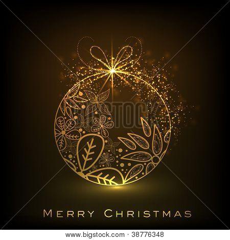 Beautiful decorative shiny Xmas ball for Merry Christmas celebration. EPS 10. poster