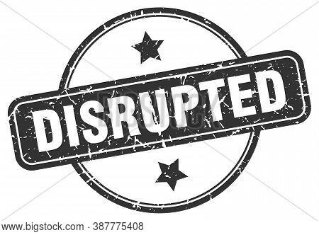 Disrupted Grunge Stamp. Disrupted Round Vintage Stamp