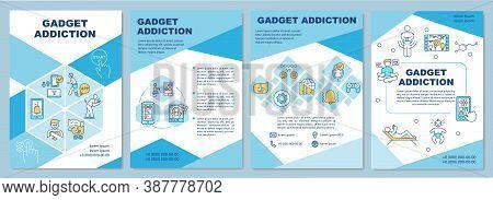 Gadget Addiction Brochure Template. Digital Dementia. Social Media. Flyer, Booklet, Leaflet Print, C