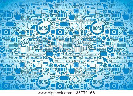 Digital texture - seamless tech pattern