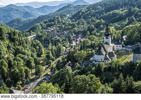 Church Of The Transfiguration Of The Lord, Spania Dolina Village, Slovak Republic. Religious Archite