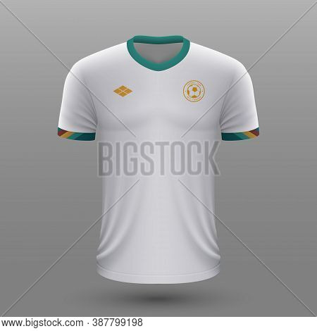 Realistic Soccer Shirt , Bolivia Away Jersey Template For Footba