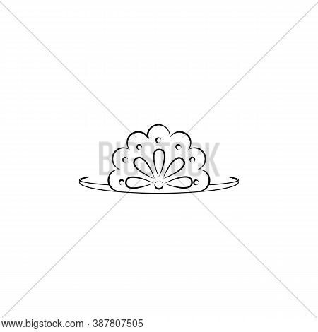 Diadem, Woman Line Icon. Signs And Symbols Can Be Used For Web, Logo, Mobile App, Ui, Ux