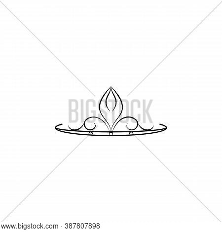 Woman, Diadem Line Icon. Signs And Symbols Can Be Used For Web, Logo, Mobile App, Ui, Ux