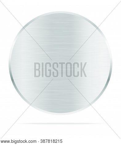 Vector Metal Name Plate Or Metal Labels .vector Illustration