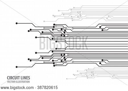 Abstract Futuristic Circuit Board Illustration, Circuit Board With Various Technology Elements. Circ