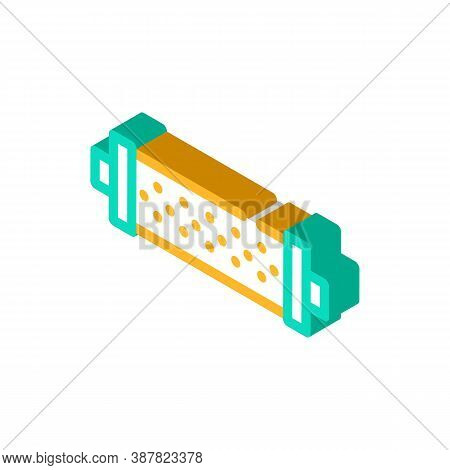 Water Strainer Isometric Icon Vector Color Illustration