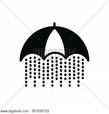 Black Solid Icon For Constant Constant Rain Heavy-rain Consistent Continual Stable Stagnant Still