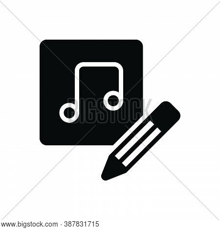 Black Solid Icon For Thus Consequently So Music Edit Pencil Symphony