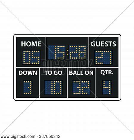 American Football Scoreboard Icon. Editable Outline With Color Fill Design. Vector Illustration.