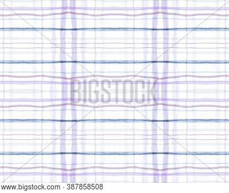 White And Blue Tartan Prints. Seamless Textured Design. British Check Texture. Fashion Trendy Flanne