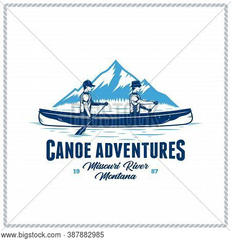 Vector Canoe Adventures Badge