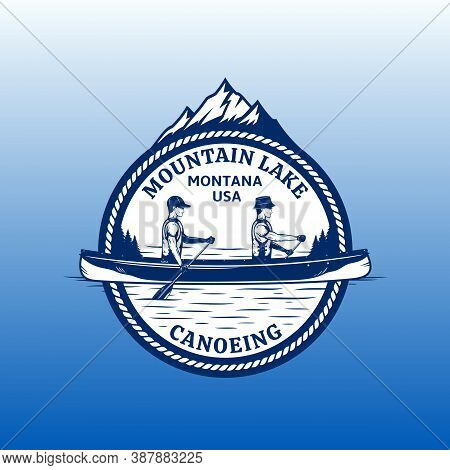Vector Canoeing Badge