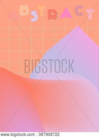 Music Cover In Blue, Cyan, Pink, Orange Colors. Radio Concert Flyer. Minimal Line Brochure. Amplitud