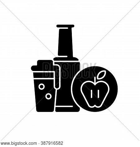 Cider Black Glyph Icon. Bottled Drink. Apple Alcoholic Beverage. Liquid In Glassware. Pub Menu. Soft