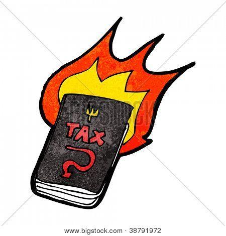 cartoon hellish tax book