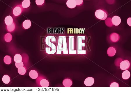 Black Friday Super Sale Illustration Design With Pink And Black Tone , Black Friday Promotion Label