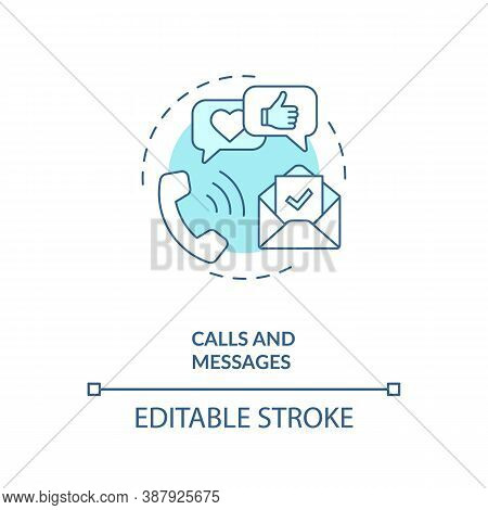 Calls And Messages Concept Icon. Device Capability Idea Thin Line Illustration. Voice Recognition. S