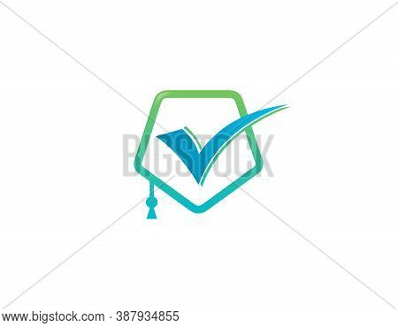 Educational Logo With A Toga Symbol. Graphic Design Element.