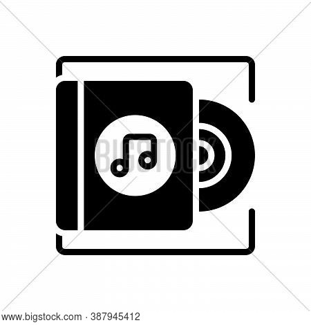 Black Solid Icon For Album Record Music Acoustic Disc Classical Musical Note Symphony