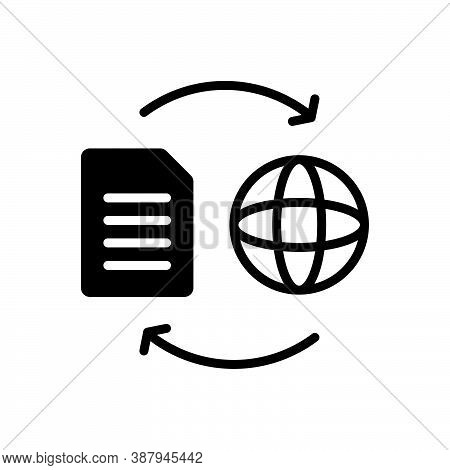 Black Solid Icon For Convert Proselyte Change Exchange Interchange Export