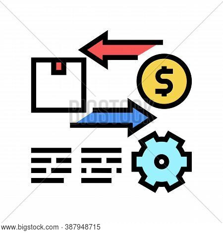 Import And Export Service Cost Color Icon Vector. Import And Export Service Cost Sign. Isolated Symb
