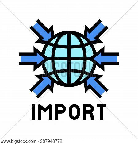 Import Transportation Color Icon Vector. Import Transportation Sign. Isolated Symbol Illustration