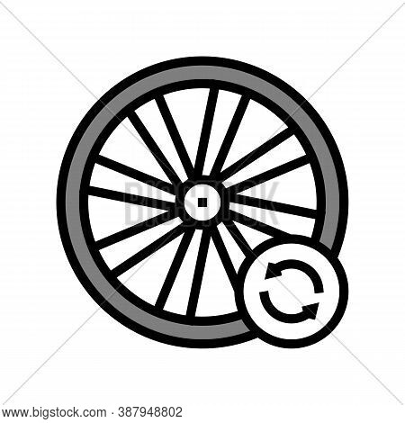 Bicycle Wheel Alignment Color Icon Vector. Bicycle Wheel Alignment Sign. Isolated Symbol Illustratio