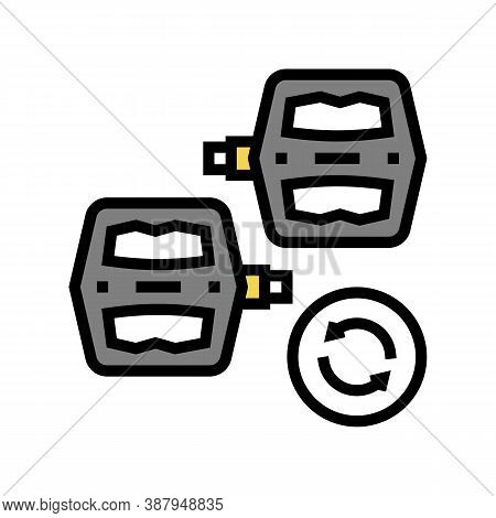 Pedals Replacement Color Icon Vector. Pedals Replacement Sign. Isolated Symbol Illustration