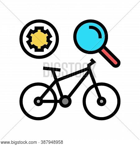 Complex Bike Maintenance Color Icon Vector. Complex Bike Maintenance Sign. Isolated Symbol Illustrat