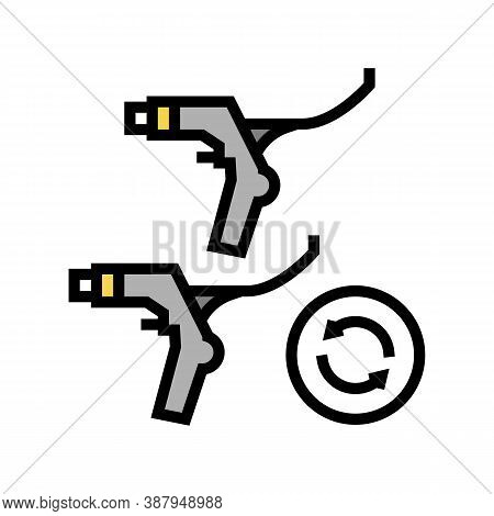 Brake Levers Replacement Color Icon Vector. Brake Levers Replacement Sign. Isolated Symbol Illustrat