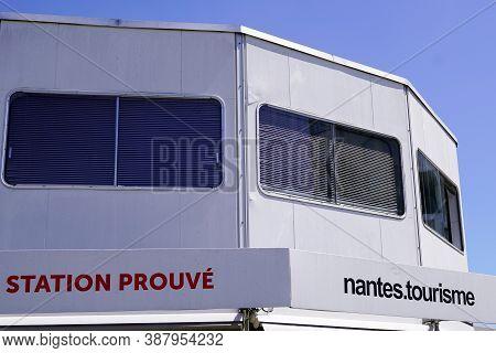 Nantes , Pays De Loire / France - 09 25 2020 : Office De Tourisme In Nantes City Means French Touris