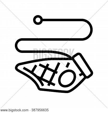 Pet Leash Line Icon Vector. Pet Leash Sign. Isolated Contour Symbol Black Illustration