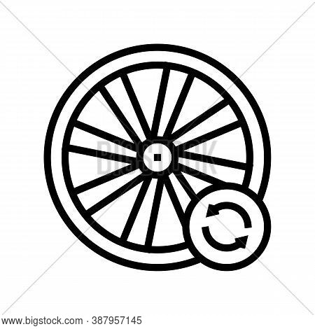 Bicycle Wheel Alignment Line Icon Vector. Bicycle Wheel Alignment Sign. Isolated Contour Symbol Blac