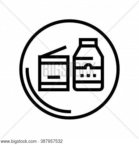 Canned Food Department Store Line Icon Vector. Canned Food Department Store Sign. Isolated Contour S
