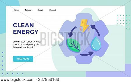 Clean Energy Leaf Water Lightning Recycle On Gear Campaign For Web Website Home Homepage Landing Pag