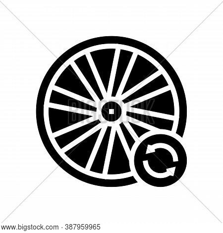 Bicycle Wheel Alignment Glyph Icon Vector. Bicycle Wheel Alignment Sign. Isolated Contour Symbol Bla