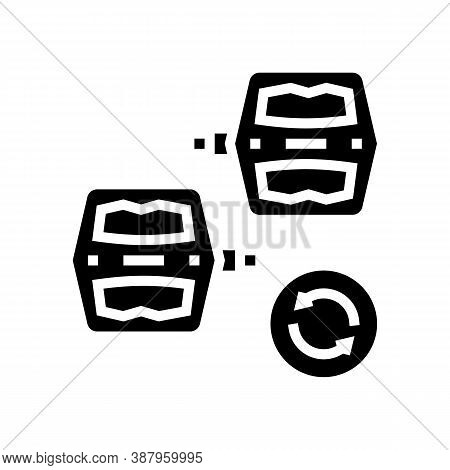 Pedals Replacement Glyph Icon Vector. Pedals Replacement Sign. Isolated Contour Symbol Black Illustr