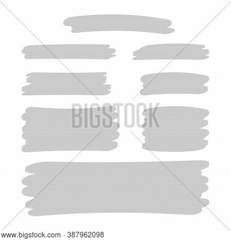 Grey Stripes Brush Paint For Scribble Marker, Brushstroke Painting Grey Pastel Soft Color, Gray Wate