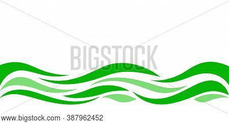 Wave Form Graphic Green Color, Water Waves Green For Background, Water Ripples Green, Modern Leaf Sh